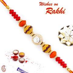 Aapno Rajasthan Crystal Stone Studded Multicolor Beads Thread Rakhi - PRS1751