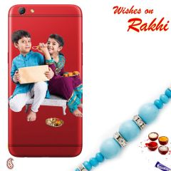 Aapno Rajasthan Customized Mobile Back Cover for Gionee Phone with Rakhi - RCUST1729 Rakhi with 200 Gms Kaju Katli