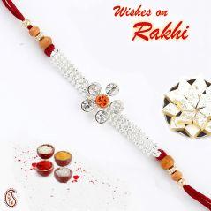 Rakhis & Gifts (USA) - Om & American Diamonds Chain Rakhi/Rakhshabandhan