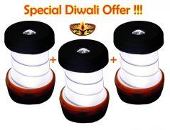 Kawachi Home Decor & Furnishing - Kawachi Waterproof Portable Scalable LED Outdoor Camping Lantern Pack of 3