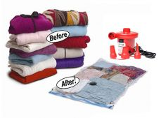 Kawachi Home Accessories - Kawachi Vacuum Seal storage bag and  AC Electric Air Pump Combo C55