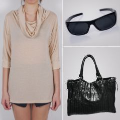 Poncho 3 Way Top With Ladies Purse & Black Goggle C104 - Personal Care