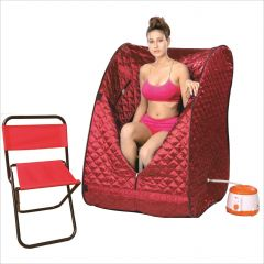 Shop or Gift Kawachi Portable Steam Sauna Bath & Portable Folding Chair Online.