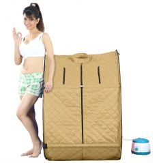 Kawachi Personal Home Therapeutic Portable Steam Spa Bath Detox Weight Loss Beige