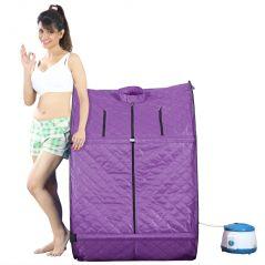 Kawachi Health & Fitness - Kawachi Personal Home Therapeutic Portable Steam Spa Bath Detox Weight Loss Violet