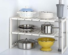 Shop or Gift Kawachi Stainless Steel Sink Shelf Retractable Storage Rack Online.