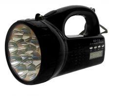 Kawachi Home Decor & Furnishing - Kawachi Portable Mini Speaker Electric Torch Flashlight Speakers USB TF Card FM Radio Player-Black