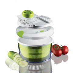 Kawachi 4-in-1 Salad Spinner Set with Mandoline Slicer and Storage Lid K290
