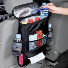 Kawachi Multifunctional Car Seatback Thermal Cooler Bag Organizer Tissue Box Fabric Storage Hanging Bag Travel Car Seat Back-k374 - Automobile Accessories