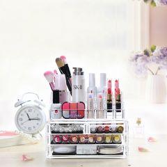 Kawachi Acrylic Makeup Organizer Storage Box For Cosmetic Jewelry Display Organizer Storage Box Cosmetic Organizer Box