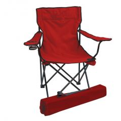 Folding Camping Chair Portable Fishing Beach Outdoor Collapsible Chairs-Red