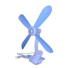 Kawachi Electronics - Kawachi 4 Blades Adjustable Clip Fan (Sky Blue & White)