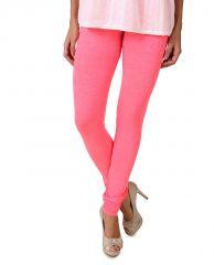 Fasense Women's Neon Pink Cotton Leggings, DM001 S