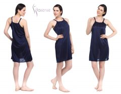 Fasense Women Stylish Satin Short Slip Sleepwear