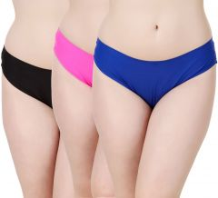 Fasense Women's Solid Set of 3 Hipster Panties JYCOM04 A