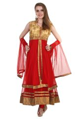 Fasense Women Ethinic Wear Readymade Anarkali Salwar Suit VG078 A