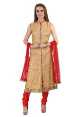 Churidar Suits (Readymade) - Fasense Women Ethinic Wear Readymade Straight Suit VG091 A