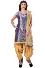 Fasense Women's Clothing - Fasense Printed Solid Ethnic Wear Top & Patiyala Set VG105 B