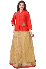 Fasense Chaniya, Ghagra Cholis - Fasense Solid Ethnic Wear Top & Lehenga Set VG107 A