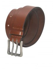 Stylox Brown Leather Belt For Men (Product Code - BLT-STX-252)