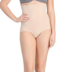 Clovia Personal Care & Beauty - Clovia Seamless Tummy Tucker In Skin With Stitch Free Belt & Lacy Back  -(Product Code- SW0018P24)