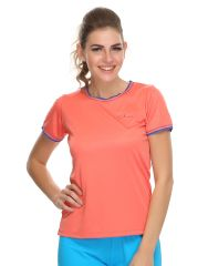 Clovia Polyester Blended Light Weight Stretchy Dri-Fit Sports T-Shirt (Product Code - At0012P16 )
