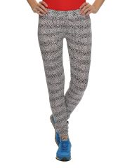 Clovia Women's Clothing - Clovia Polyamide, Spandex Stretchy High Rise Tights In Animal Prints (Product Code - At0016P13 )