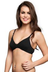 Clovia Non Padded Non Wired Cotton Bra In Black Code - (Br0239P13)