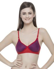 Clovia Cotton Rich T shirt Bra With Cross-Over Moulded Cups  BR0240P15