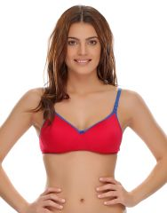 Clovia Cotton Blend Padded Non-Wired T-Shirt Bra (Product Code - Br0262A14 )