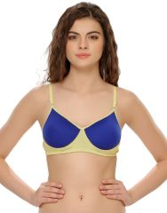 Clovia Polyster Cotton & Power Net Lightly Padded T-Shirt Bra (Product Code - Br0300P08 )