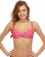 Clovia All Over Lace Lace Embrace Padded Bra In Pink (Product Code - Br0353P14 )
