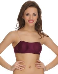 Clovia Cotton Blended Tube Bra With Detachable Transparent Straps (Product Code - Br0377P15 )