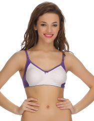 Clovia Cotton Blended Two Toned Cotton Rich Full Cup Bra (Product Code - Br0380P12 )