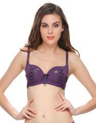 Clovia Graphic Prints Padded Bra In Purple  Br0439P15