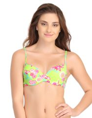 Clovia Push Up Bra In Fluorescent Green With Back Detachable Straps  - (Product Code - BR0562P11)