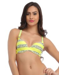 Clovia Laser Cut Padded Bra In Fluorescent Green With Detachable Straps -(Product Code-BR0614P11)