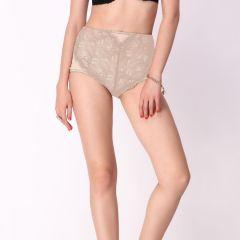 Cloe Women's Clothing - Cloe High Waist Lace Brief In Beige PN0173R19