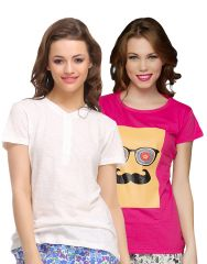 Clovia Pack Of 2 T-Shirts-(Product Code- COMBOLT11)
