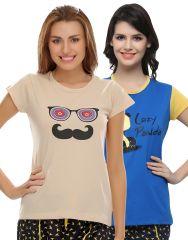 Clovia Pack Of 2 T-Shirts-(Product Code- COMBOLT17)