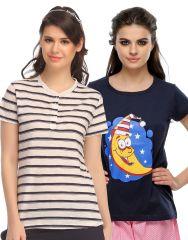 Clovia Pack Of 2 T-Shirts-(Product Code- COMBOLT30)