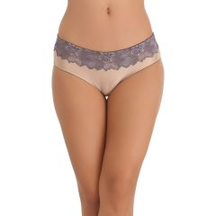 Clovia Skin Hipster With Lacy Waist  -(Product Code- PN0572P24)