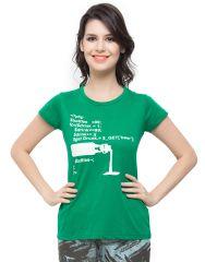 Clovia Cotton Lycra T-Shirt In Green (Product Code - Lt0010P17 )