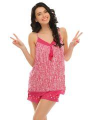 Clovia Cute Prints Cami And Shorts Set  Ns0502P22