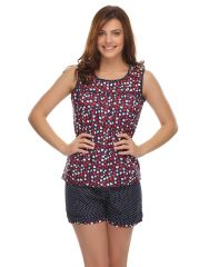 Clovia Cotton Blended Cute Prints Cami And Shortsset (Product Code - Ns0503P08 )