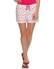 Clovia Blended Cotton Cute Shorts In Swan Prints (Product Code - Ns0504P22 )
