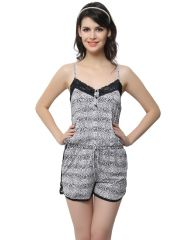 Gift Or Buy Clovia Polyamide, Lace Lacy Jumpsuit In Wild Prints (Product Code - Ns0521P13 )