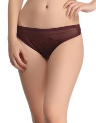 Clovia Sexy Lacy Brief In Grape Wine  Pn0509P15