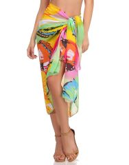 Clovia Chiffon Sarong In Light Green  - (Product Code - SM0054P11)
