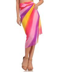 Clovia Chiffon Sarong In Purple  - (Product Code - SM0054P15)